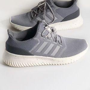 adidas memory foam gray sneakers men's size:10.5